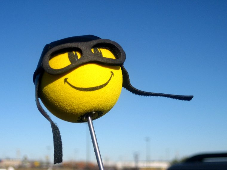 smiley face antenna ball topper
