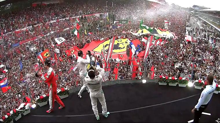 2016 Italian Grand Prix Podium