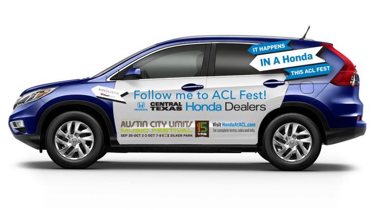 """Hail A Honda"" Rideshare Program Comes to Austin City Limits Music Festival Thanks to Honda and the Central Texas Honda Dealers"