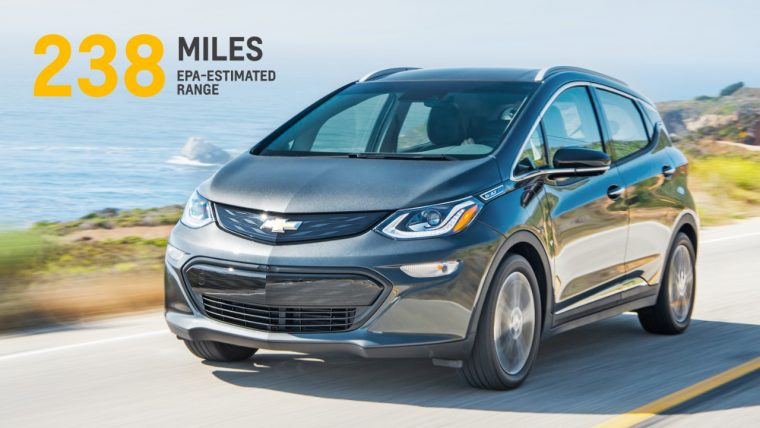 The 2017 Chevy Bolt achieves 238 miles of range, according to EPA estimates