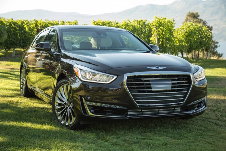 2017 Genesis G90 model overview black luxury car