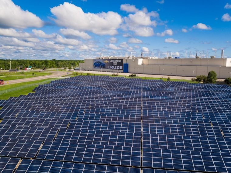 By the year 2050, GM plans to use 100% renewable electricity in every building that it owns