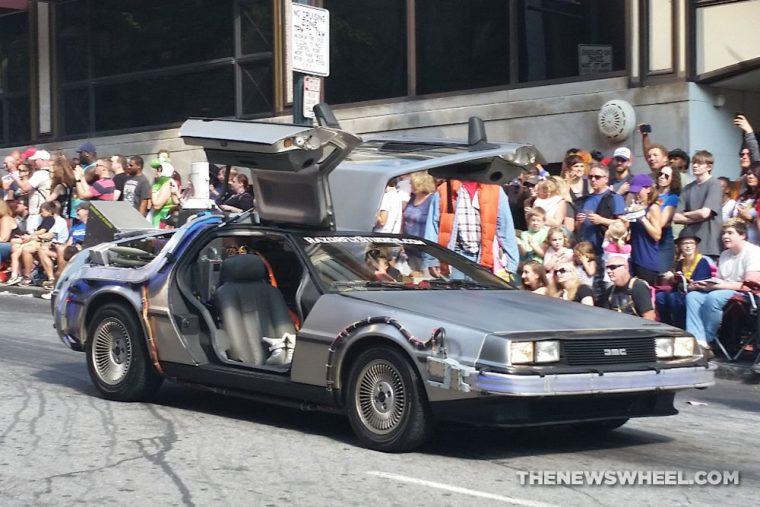 Back to the Future DeLorean Car at Dragon Con Atlanta Parade