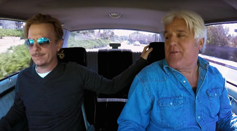 Jay Leno and David Spade cruising in a 1987 Buick Grand National