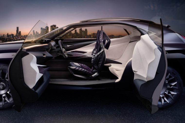 Lexus UX crossover concept 2016 Paris Auto Show suicide doors