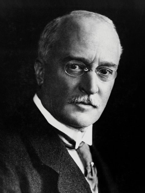 GERMANY - JUNE 06: In 1892 Rudolf Diesel (1858-1913) patented a design for a new type of internal combustion engine. In 1897 he produced a 25 horsepower, four-stroke, single vertical cylinder compression engine, the high efficiency of which, together with its comparative simplicity of design, made it an immediate commercial success. Subsequent royalty fees brought great wealth to its inventor. He was lost overboard from the mail steamer 'Dresden' during a trip to London in 1913 and was assumed to have drowned. (Photo by SSPL/Getty Images)
