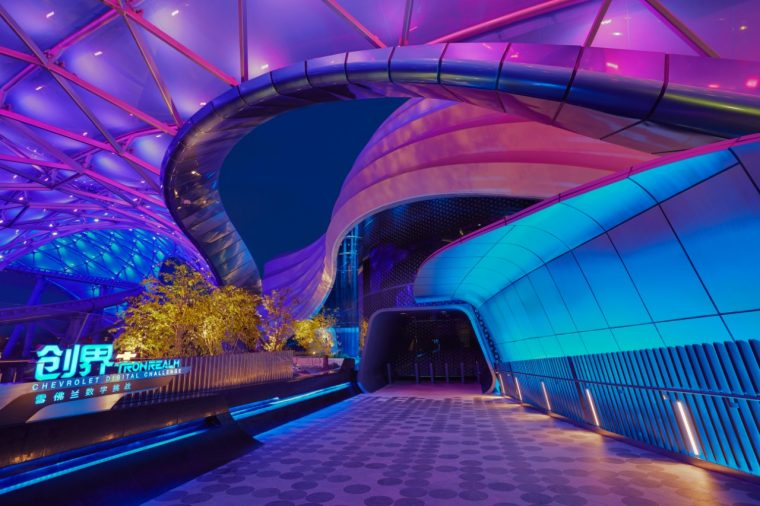 """The newly opened """"TRON Realm, Chevrolet Digital Challenge"""" at Tomorrowland in Disneyland Shanghai"""