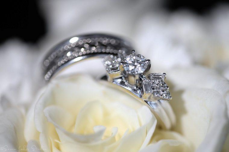 bride groom wedding ring ceremony ideas white flowers