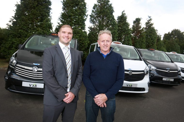 (from left to right) Pete Vickers from Vauxhall and Vin O'Leary from Voyager
