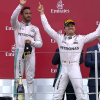 Rosberg and Hamilton on the podium