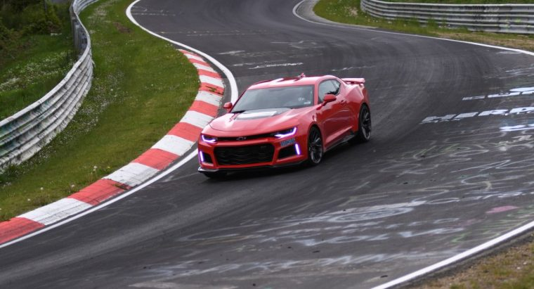 The 2017 Chevy Camaro ZL1 attacks the track at Germany's Nurburgring
