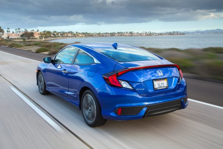 The 2017 Honda Civic Coupe is priced at less than $20,000