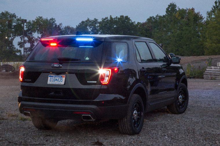 Rear Spoiler Traffic Warning Lights 2017 Ford Police Interceptor Utility