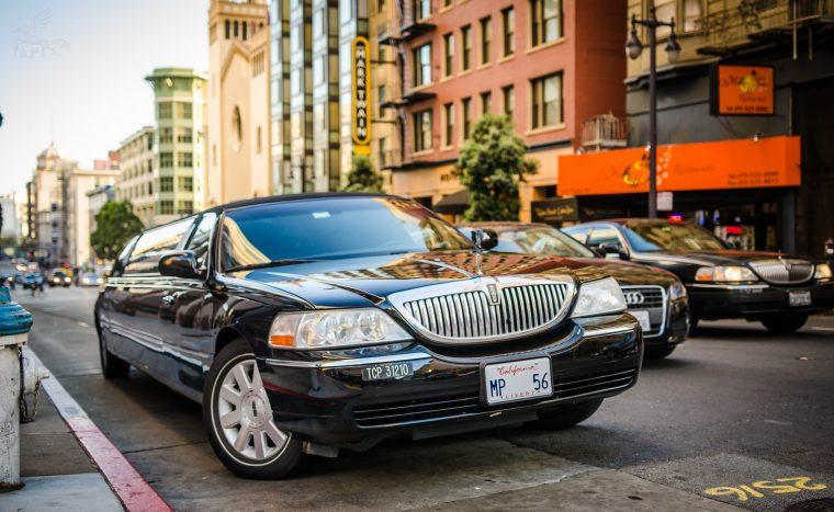 Classic Lincoln Town Car Stretch Limousine black