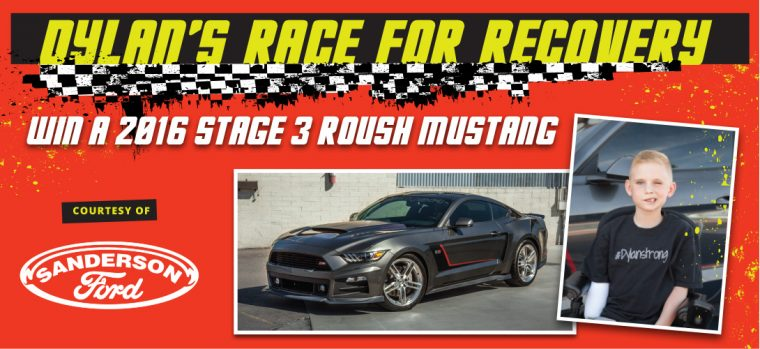 Dylan Race for Recovery 2016 Roush Ford Mustang Charity Donation