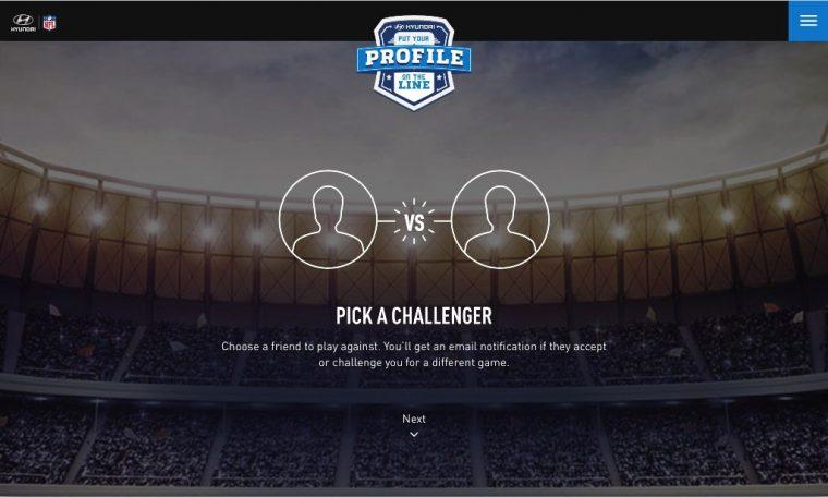 Hyundai Facebook Profile Football NFL program competition