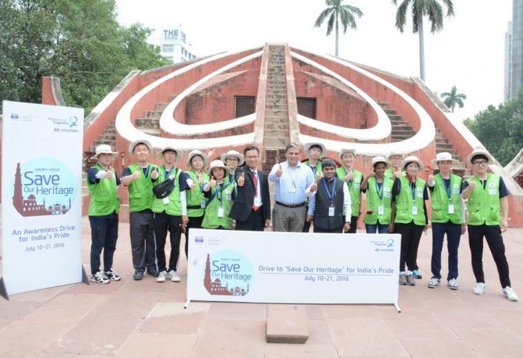 hyundai india save our heritage program monuments volunteers