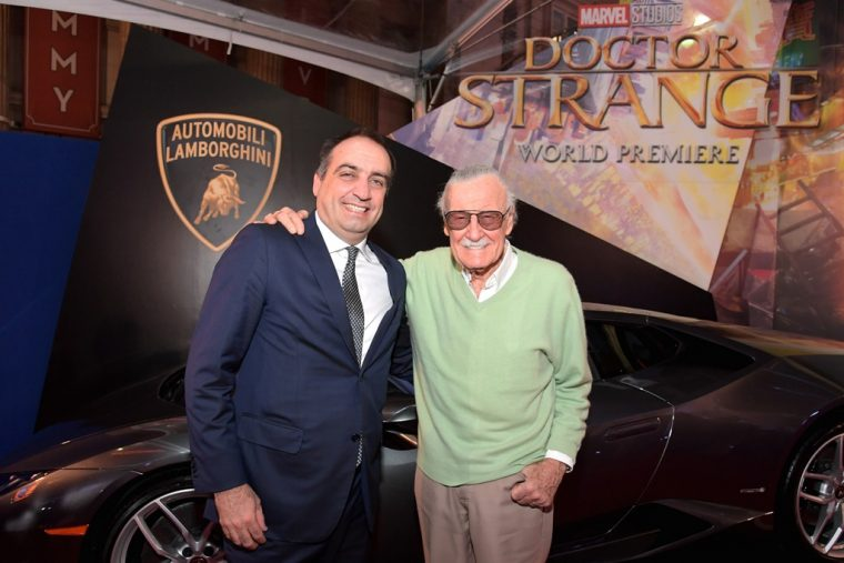 Marvel Doctor Strange movie debut Lamborghini Huracsn LP610-4 Coupe car Stan Lee