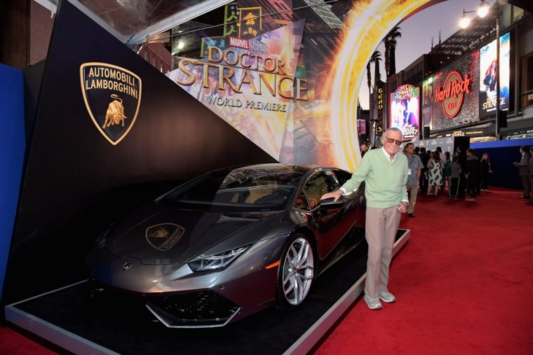 Marvel Doctor Strange movie debut Lamborghini Huracsn LP610-4 Coupe car red carpet