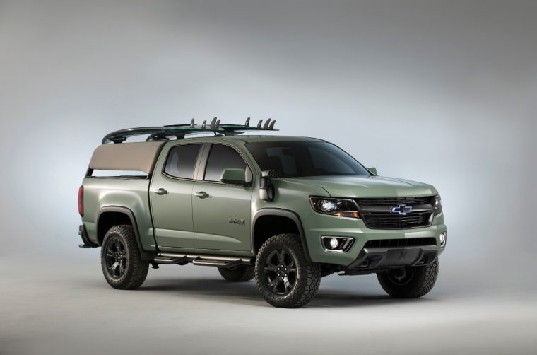 The 2017 Chevy Colorado ZL1 Hurley concept at the 2016 SEMA Show in Las Vegas