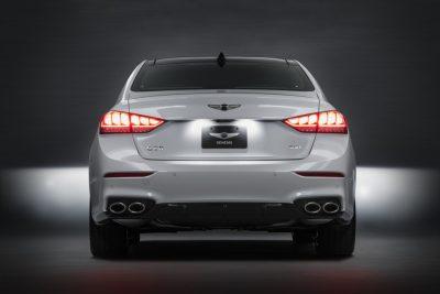 2018 Genesis G80 Sport 3.3T V6 Reveal at LA Auto Show rear