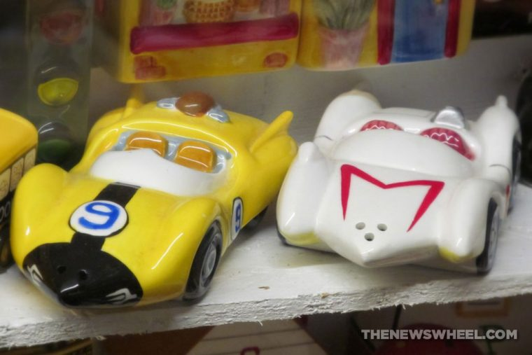 Car Themed Salt and Pepper shakers Automotive novelty speed racer
