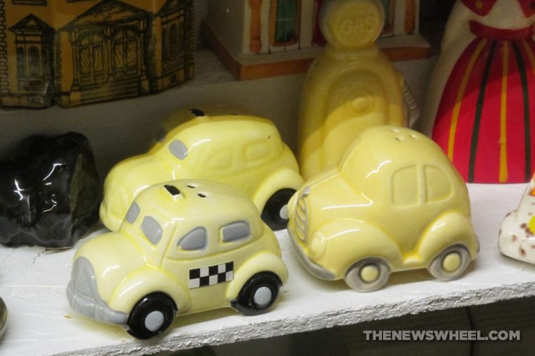 Car Themed Salt and Pepper shakers Automotive novelty taxi