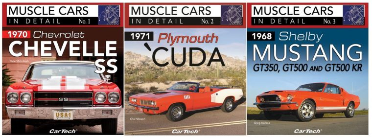 CarTech Musle Cars In Detail Book Series corvers Mustang Chevelle Cuda volumes