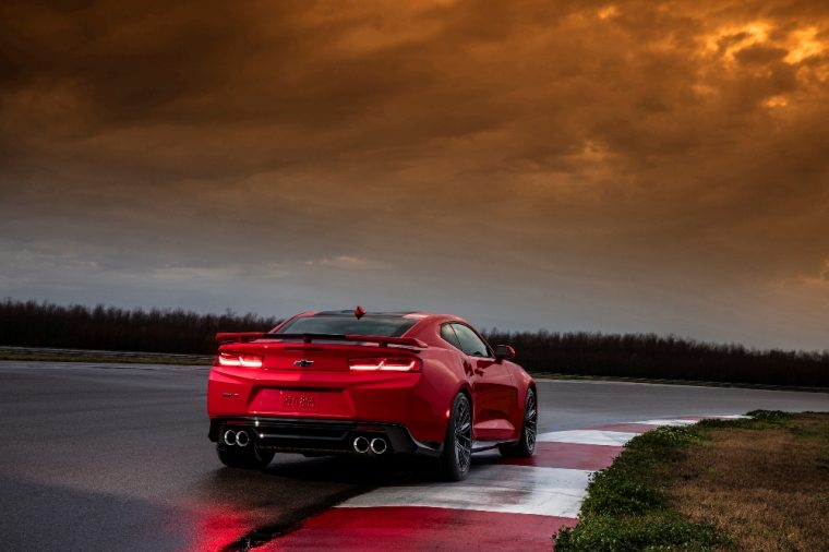 The 2017 Chevy Camaro ZL1 comes with a supercharged V8 engine that allows it to rocket from 0 to 60 mph in just 3.5 seconds