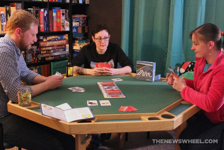 Drive card game review classic car collecting playing