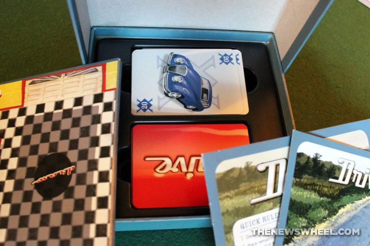 Drive card game review classic car collecting unboxing