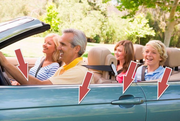 Exercise in the car healthy driving body habits tips family butts