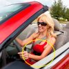 Exercise in the car healthy driving body habits tips woman torso core