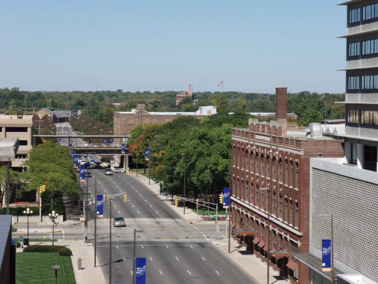 Fort Wayne Indiana highways driving travelling navigating downtown
