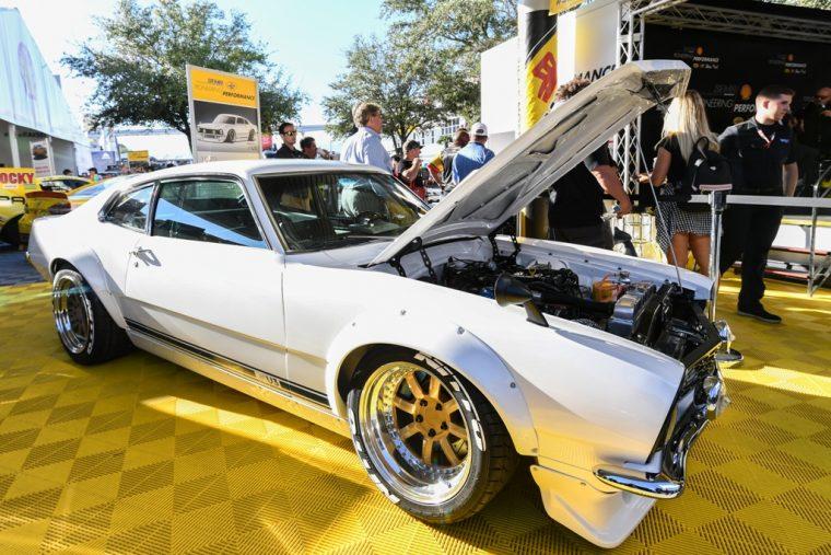 Project Underdog Ford Maverick Restoration Program Shell Sung Kang engine
