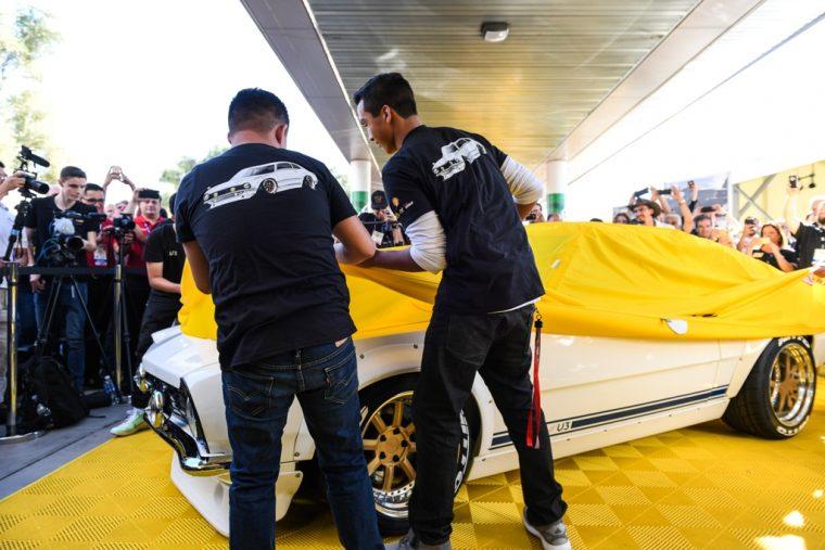 Project Underdog Ford Maverick Restoration Program Shell Sung Kang reveal at SEMA
