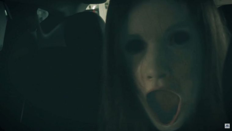 Scary Hyundai ix35 commercial Halloween horror jump scare in car attack
