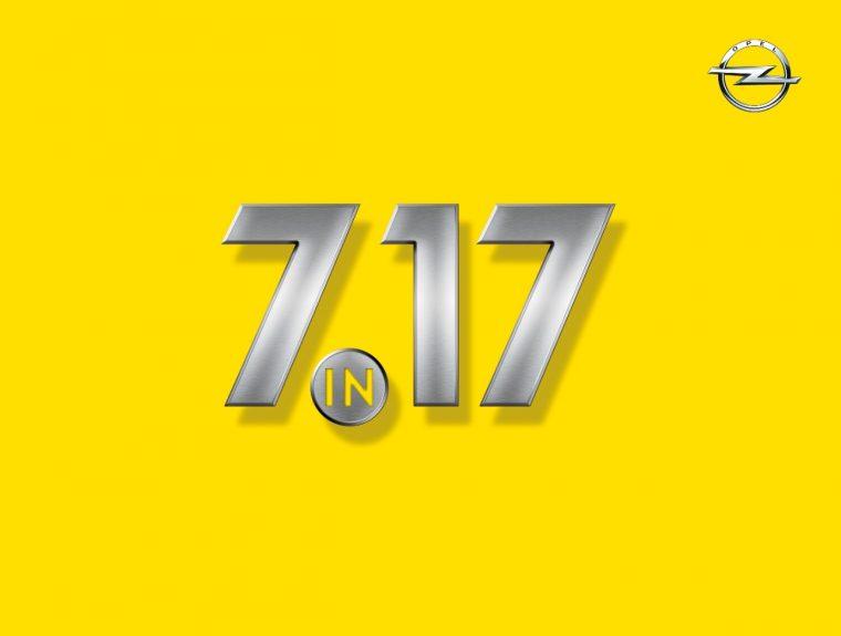 """Opel """"7 in 17"""" logo"""