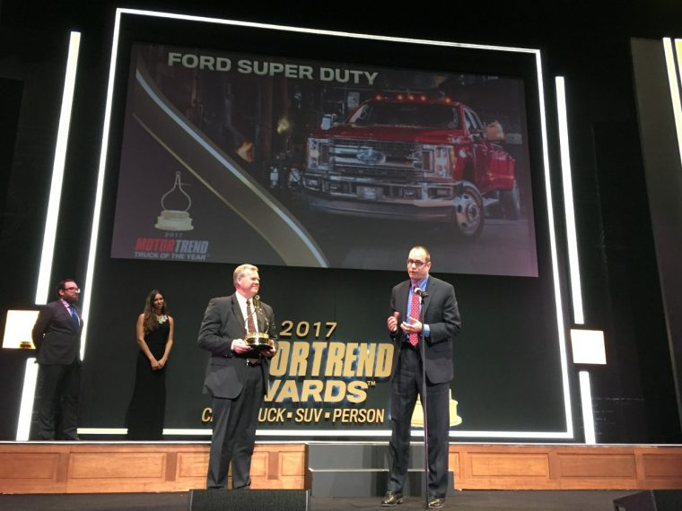 2017 Ford F-Series Super Duty wins Motor Trend Truck of the Year
