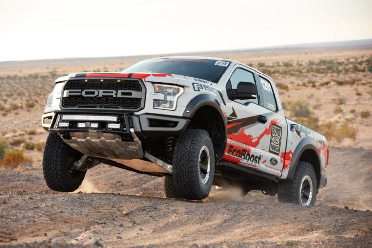 The 2017 Ford F-150 Raptor Race Truck competed in the 2016 Best in the Desert season