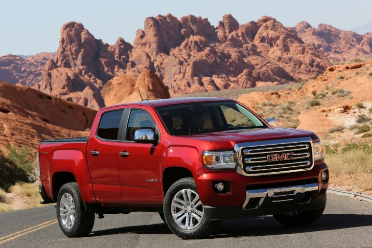 The 2017 GMC Canyon. 2020 U.S. Resale Value Awards