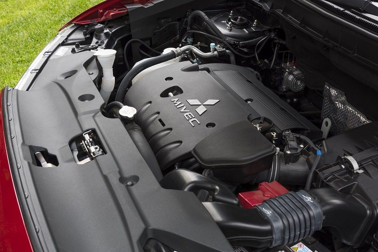 2017 Mitsubishi Outlander Sport engine bay