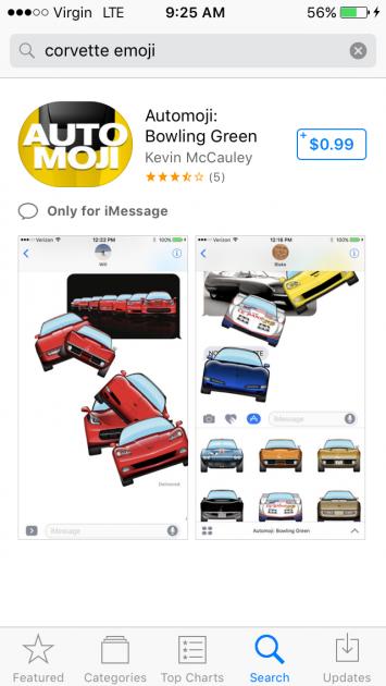 automoji: bowling green - corvette emojis