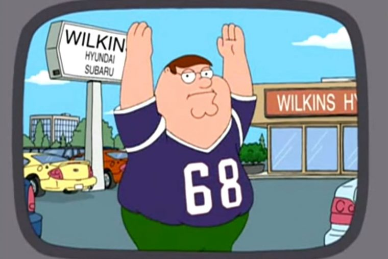 Family Gyuy car dealership Peter Griffin Wilkins Hyundai Subaru