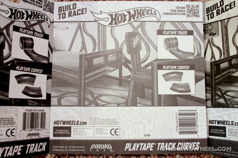 Hot Wheels PlayTape InRoad Toys peel stick adhesive car track package box