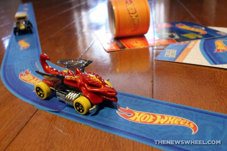 Hot Wheels PlayTape InRoad Toys peel stick adhesive car track review