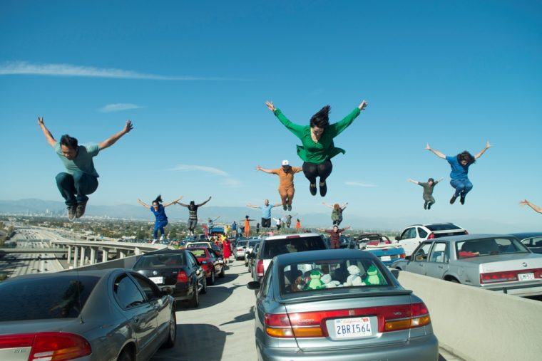 La La Land film movie cars Lionsgate 2016 scene Los Angeles Freeway Dance