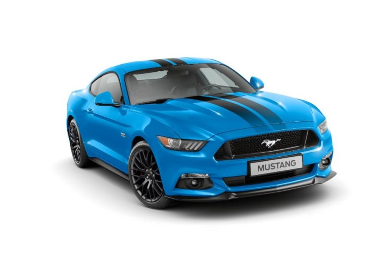 The Mustang Blue Edition and Mustang Shadow Black Edition will be Europe only exclusives