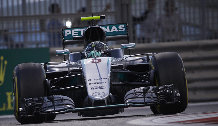 Nico Rosberg driving his Mercedes F1 W07 Hybrid
