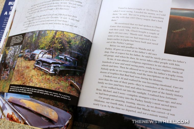 Route 66 Barn Find Road Trip book review antique classic cars Motorbooks pages spread